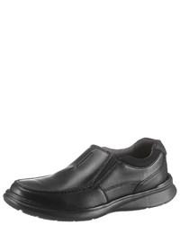 schwarze Leder Slipper von Clarks