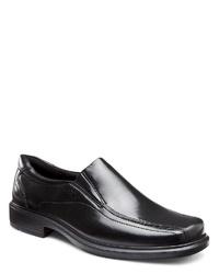 schwarze Leder Slipper von Ecco