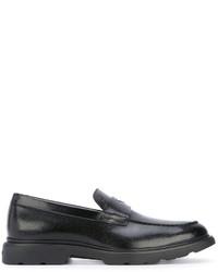 schwarze Leder Slipper von Hogan
