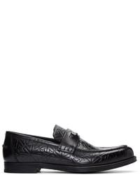 schwarze Leder Slipper von Jimmy Choo