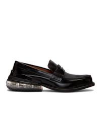 schwarze Leder Slipper von Maison Margiela