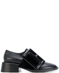schwarze Leder Slipper von MM6 MAISON MARGIELA
