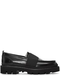schwarze Leder Slipper von MSGM