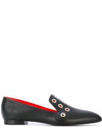 schwarze Leder Slipper von Proenza Schouler