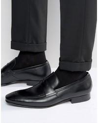 Schwarze Leder Slipper von Ted Baker