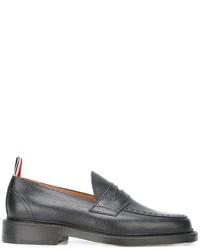 schwarze Leder Slipper von Thom Browne