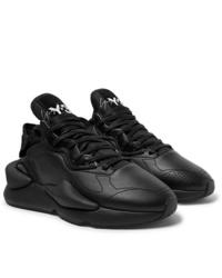 schwarze Leder Sportschuhe