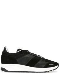 schwarze Leder Sportschuhe von AMI Alexandre Mattiussi