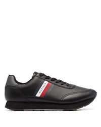 schwarze Leder Sportschuhe von Tommy Hilfiger