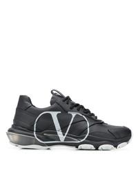 schwarze Leder Sportschuhe von Valentino