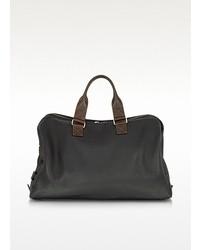 schwarze Leder Sporttasche