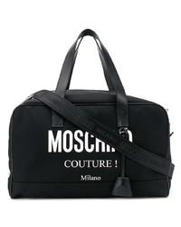 schwarze Leder Sporttasche von Moschino
