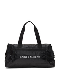schwarze Leder Sporttasche von Saint Laurent