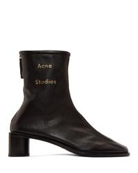 schwarze Leder Stiefeletten von Acne Studios