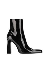 schwarze Leder Stiefeletten von Balenciaga