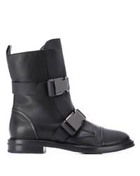 schwarze Leder Stiefeletten von Casadei