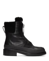 schwarze Leder Stiefeletten von Chloé