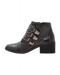 schwarze Leder Stiefeletten von Coolway