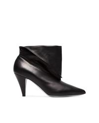 schwarze Leder Stiefeletten von Givenchy
