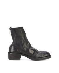 schwarze Leder Stiefeletten von Guidi