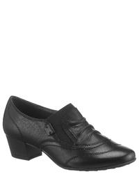 schwarze Leder Stiefeletten von Jana