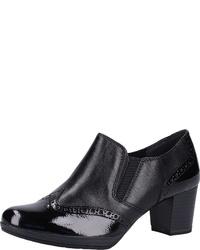 schwarze Leder Stiefeletten von Marco Tozzi