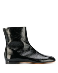 schwarze Leder Stiefeletten von Marni