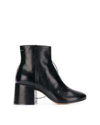 schwarze Leder Stiefeletten von MM6 MAISON MARGIELA