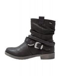 schwarze Leder Stiefeletten von Mtng