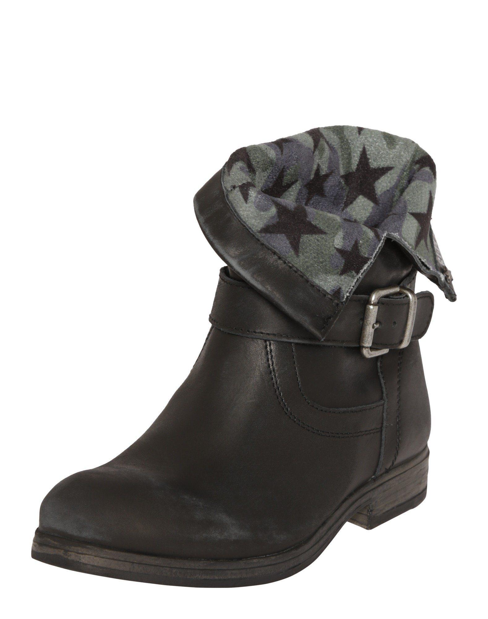 schwarze Leder Stiefeletten von Replay