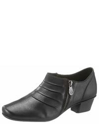 schwarze Leder Stiefeletten von Rieker