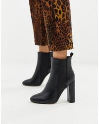 schwarze Leder Stiefeletten von SIMMI Shoes