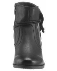 schwarze Leder Stiefeletten von Supremo