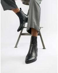 schwarze Leder Stiefeletten von Vagabond
