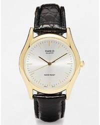 Schwarze Leder Uhr von Casio