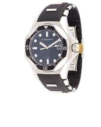 schwarze Leder Uhr von Givenchy