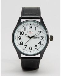 schwarze Leder Uhr von Limit