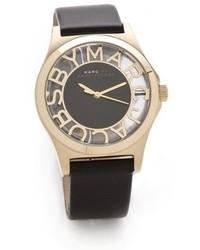 schwarze Leder Uhr von Marc by Marc Jacobs