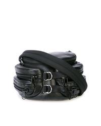 schwarze Leder Umhängetasche von Alexander Wang