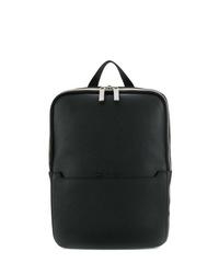 schwarze Leder Umhängetasche von Calvin Klein