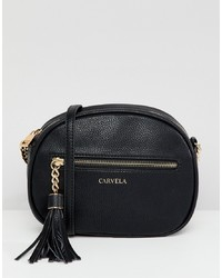 schwarze Leder Umhängetasche von Carvela