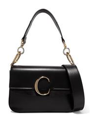 schwarze Leder Umhängetasche von Chloé