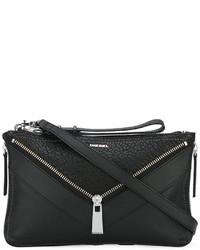 schwarze Leder Umhängetasche von Diesel