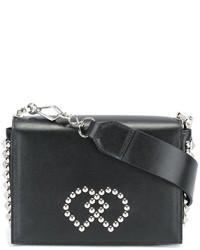 schwarze Leder Umhängetasche von Dsquared2