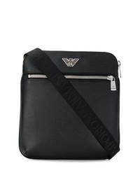 schwarze Leder Umhängetasche von Emporio Armani