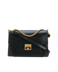 schwarze Leder Umhängetasche von Givenchy