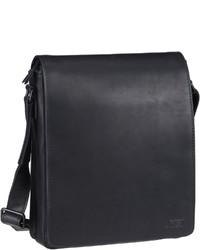 schwarze Leder Umhängetasche von Jost