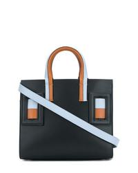 schwarze Leder Umhängetasche von Marni