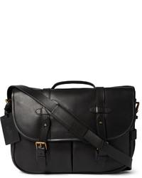 schwarze Leder Umhängetasche von Polo Ralph Lauren
