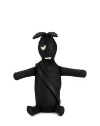 schwarze Leder Umhängetasche von Rick Owens